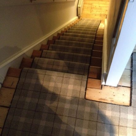Tartan Stair Runner Job