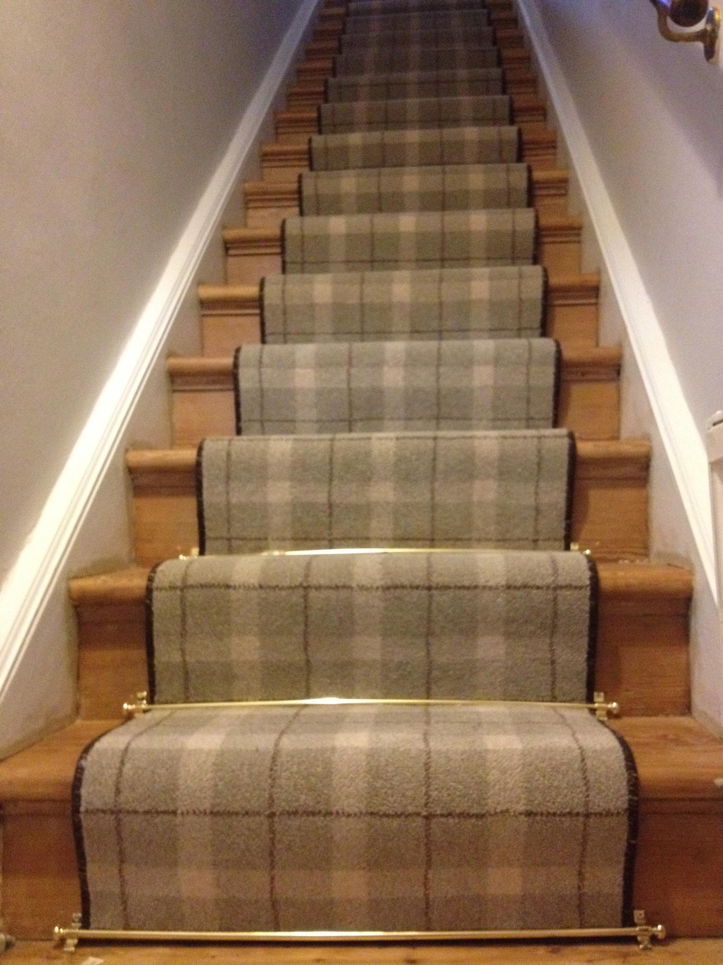 Tartan Stair Runner Job Cj Carpet Binding