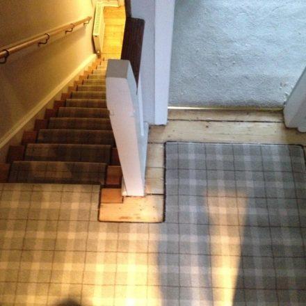 Tartan Stair Runner Job